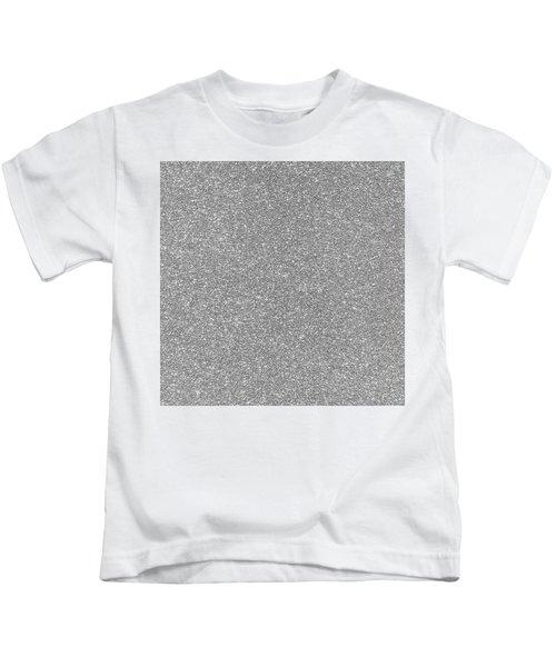Silver Glitter  Kids T-Shirt