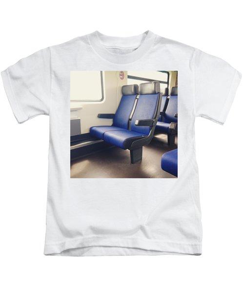 Sitting On Trains Kids T-Shirt