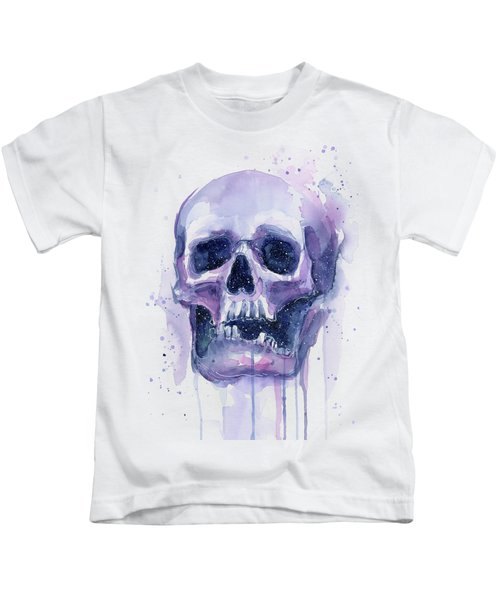 Skull In Space Kids T-Shirt