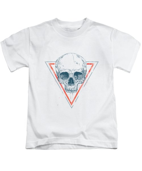 Skull In Triangles Kids T-Shirt