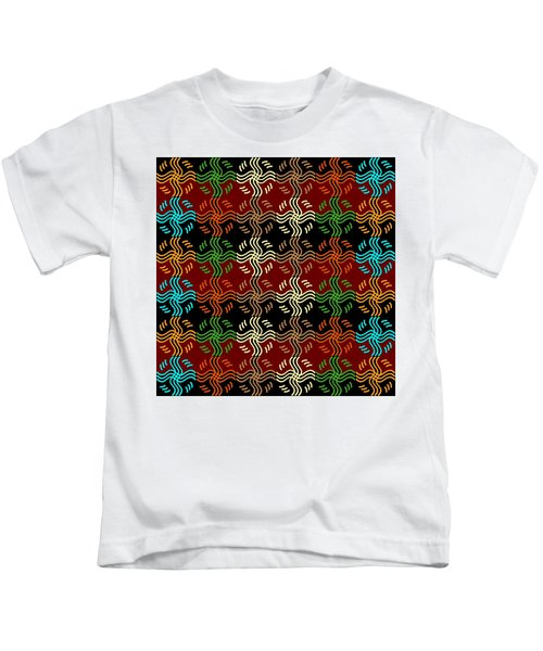 Southwestern Sun Tile Kids T-Shirt