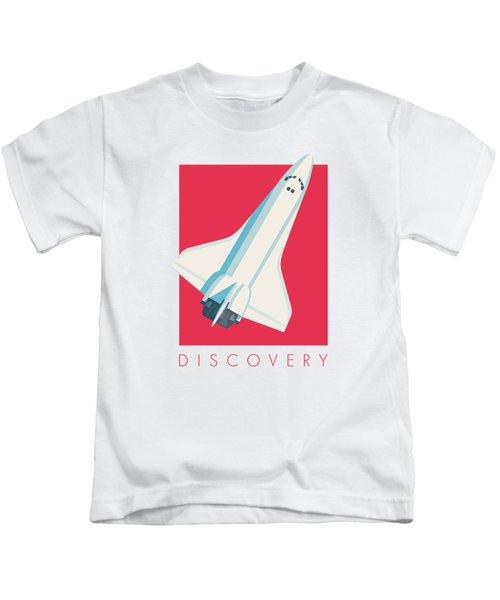 Space Shuttle Spacecraft - Crimson Kids T-Shirt