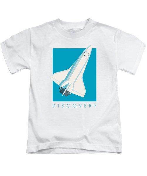 Space Shuttle Spacecraft - Cyan Kids T-Shirt