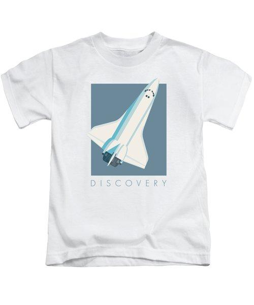 Space Shuttle Spacecraft - Slate Kids T-Shirt