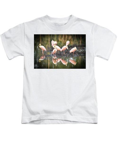 Spoonbill Reflection Kids T-Shirt