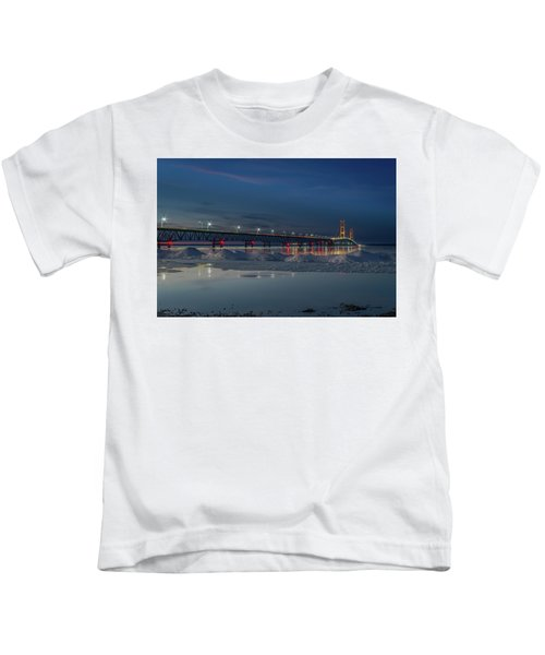 Spring Evening At The Mackinac Bridge Kids T-Shirt
