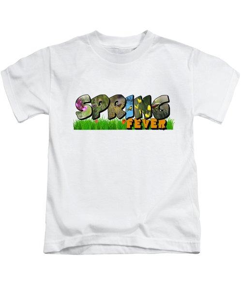 Spring Fever Big Letter Kids T-Shirt