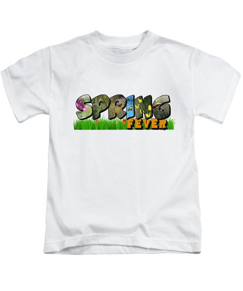 Spring Fever Big Letter Kids T-Shirt