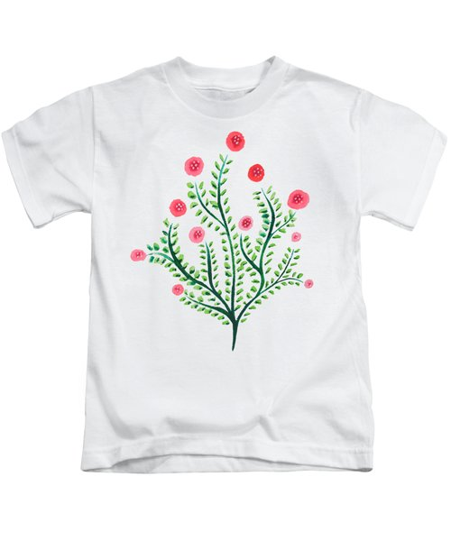 Spring Plant In Pink And Green Kids T-Shirt