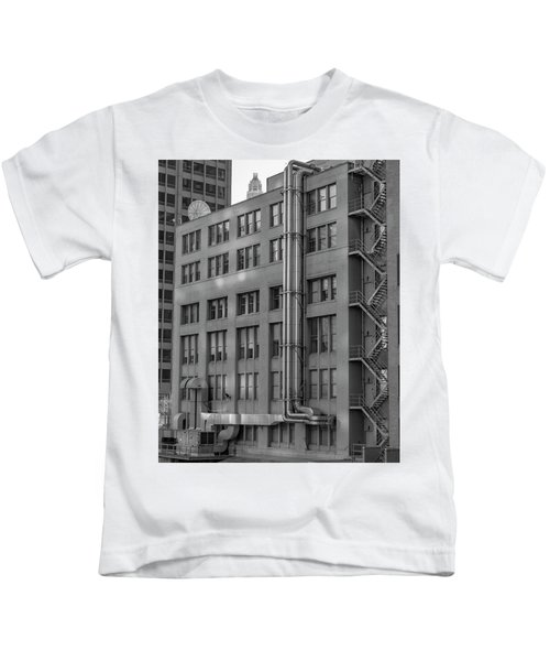 Squares And Lines Kids T-Shirt