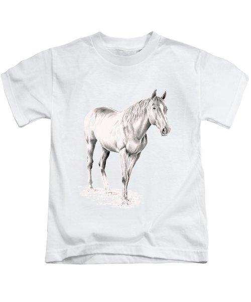 Standing Racehorse Kids T-Shirt