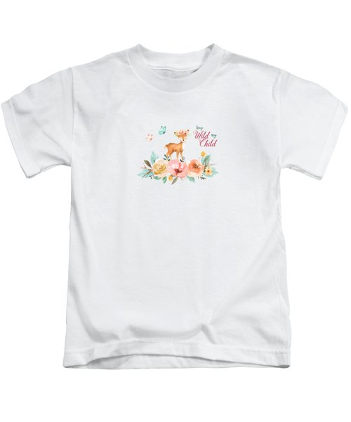 Stay Wild My Child With Deer Kids T-Shirt