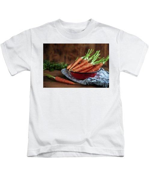 Still Life With Fresh Carrots Kids T-Shirt