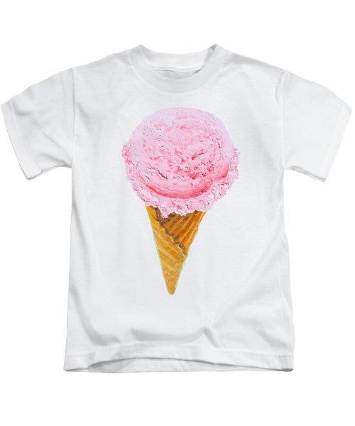 Strawberry Ice Cream Cone Kids T-Shirt