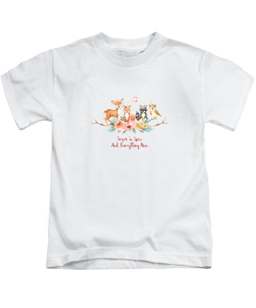 Sugar 'n Spice And Everything Nice Kids T-Shirt