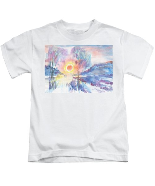 Sunny Winter Morning Kids T-Shirt