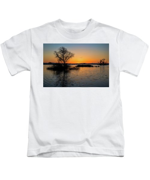 Sunset In The Refuge Kids T-Shirt