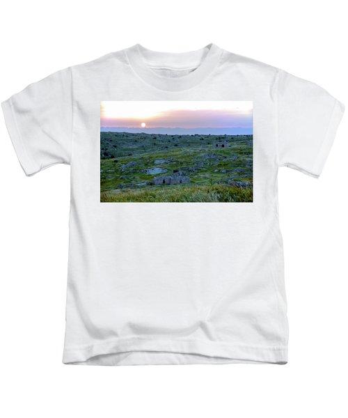 Sunset Over Um A-shekef, Israel Kids T-Shirt