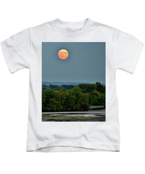 Supermoon On The Mississippi Kids T-Shirt