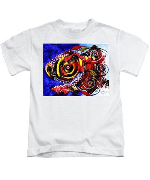 Swollen, Red Cavity Fish Kids T-Shirt