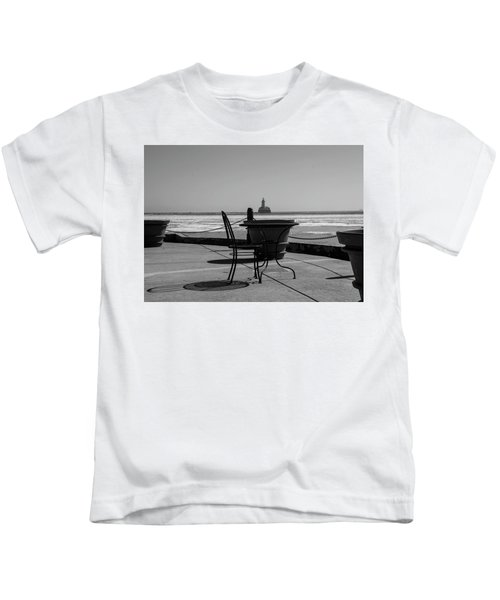 Table For One Bw Kids T-Shirt