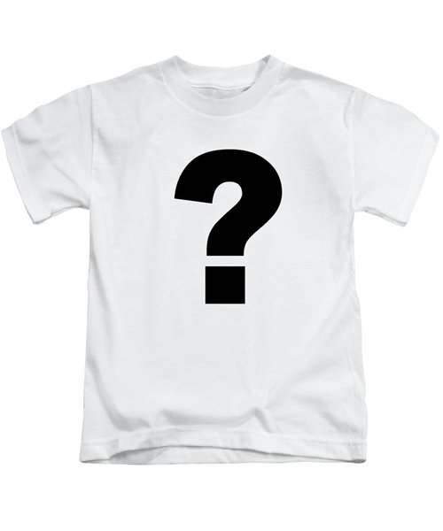 Text Question Mark ? In Black -  Dth301 Kids T-Shirt