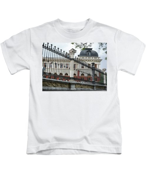 The Back Of The Ministry Of Agriculture Building In Madrid Kids T-Shirt