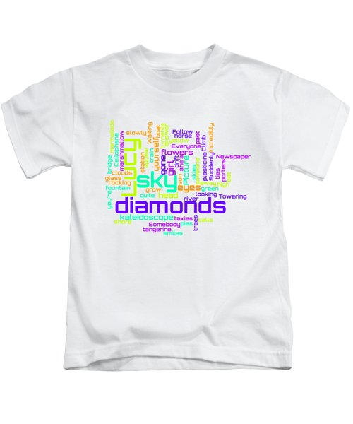 The Beatles - Lucy In The Sky With Diamonds Lyrical Cloud Kids T-Shirt