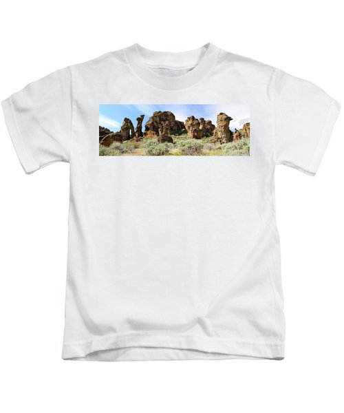 Arches Hoodoos And Castles The Big Picture Little City Of Rocks Kids T-Shirt