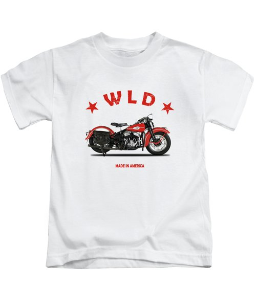 The Harley Wld Motorcycle 1941 Kids T-Shirt