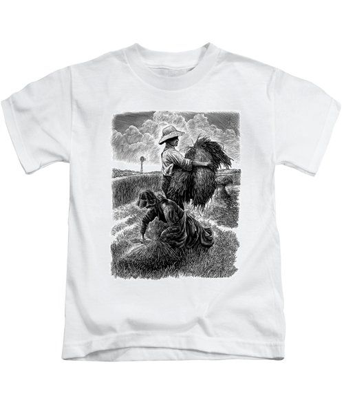 The Harvesters - Bw Kids T-Shirt