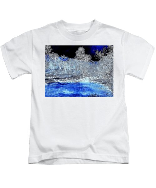 The  Pond In  Winter  -  Edit20-contest Kids T-Shirt