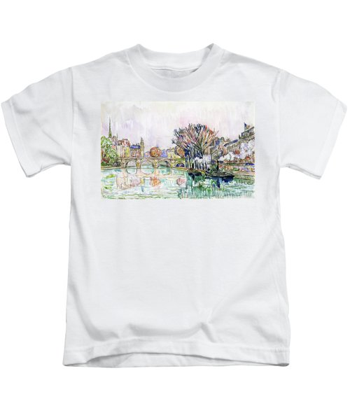The Pont Neuf, Paris - Digital Remastered Edition Kids T-Shirt
