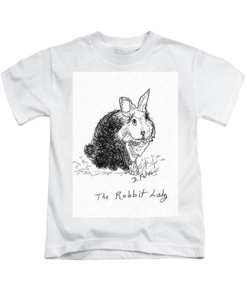 The Rabbit Lady Drawing Kids T-Shirt