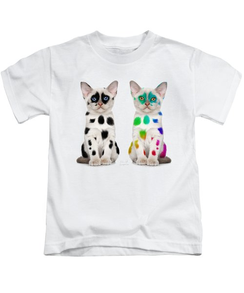 The Twins Dalmatian Cats Kids T-Shirt