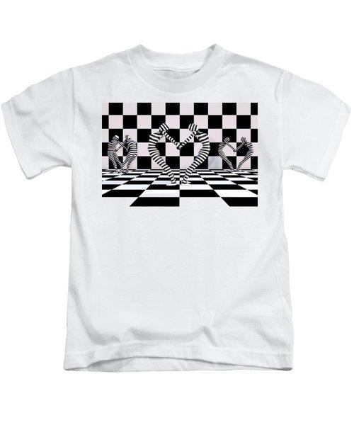 Three Of Hearts Kids T-Shirt