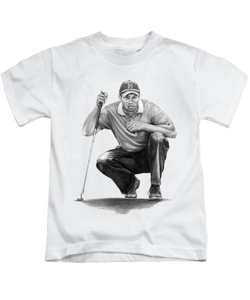 Tiger Woods Crouching Tiger Kids T-Shirt