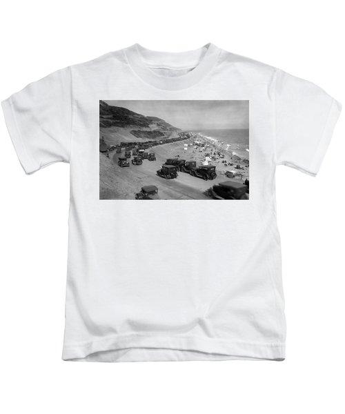 Topanga State Beach 1920 Kids T-Shirt