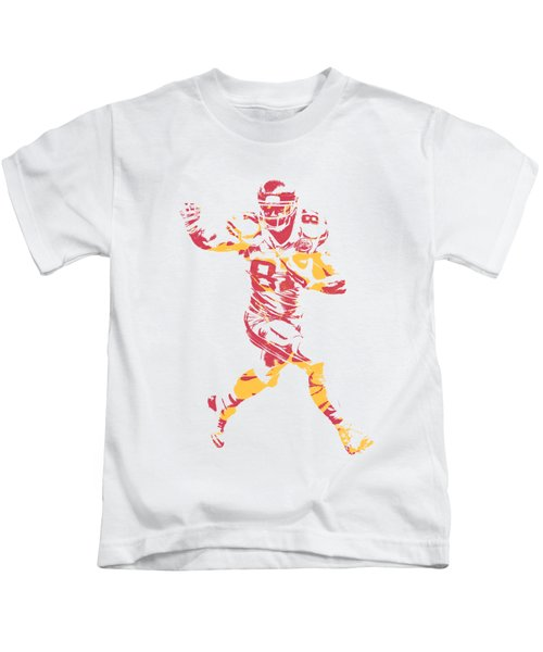 Travis Kelce Kansas City Chiefs Apparel T Shirt Pixel Art 1 Kids T-Shirt