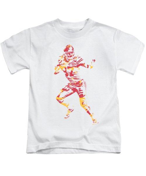 Travis Kelce Kansas City Chiefs Apparel T Shirt Pixel Art 2 Kids T-Shirt