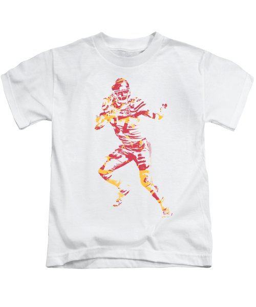 Travis Kelce Kansas City Chiefs Apparel T Shirt Pixel Art 2 Kids T-Shirt