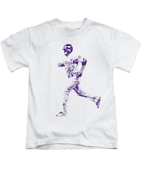 Trevor Story Colorado Rockies Pixel Art 3 Kids T-Shirt