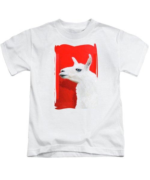 The Blue-eyed Llama  Kids T-Shirt