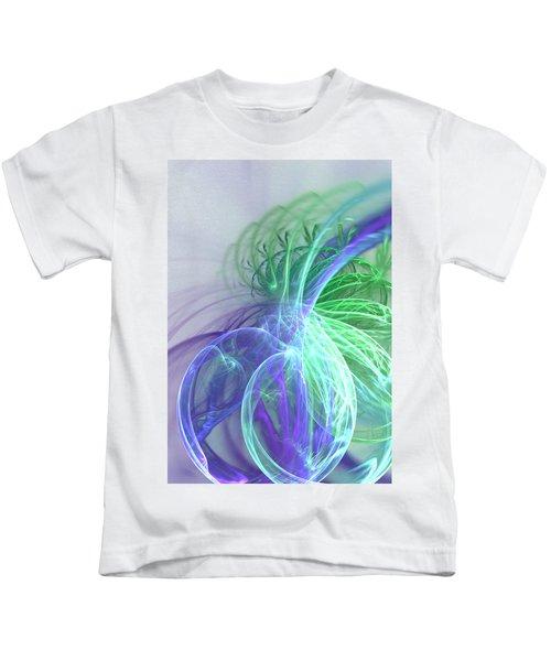 Turquoise Swirl Kids T-Shirt