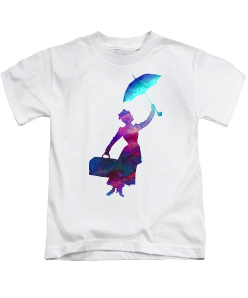 Umbrella Lady Kids T-Shirt