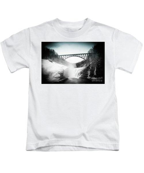 Upper Falls At Letchworth State Park Kids T-Shirt