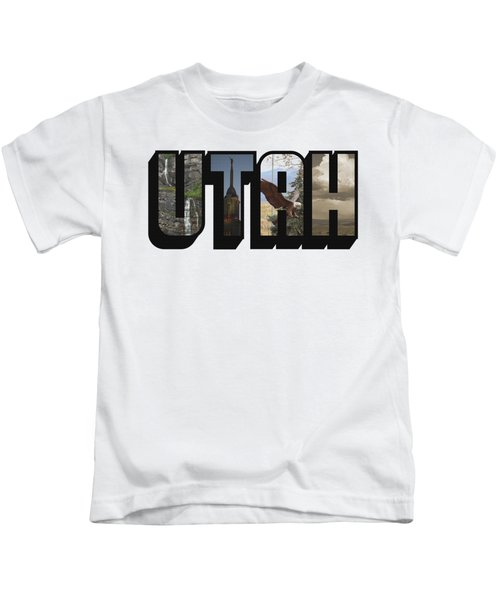 Utah Big Letter Kids T-Shirt