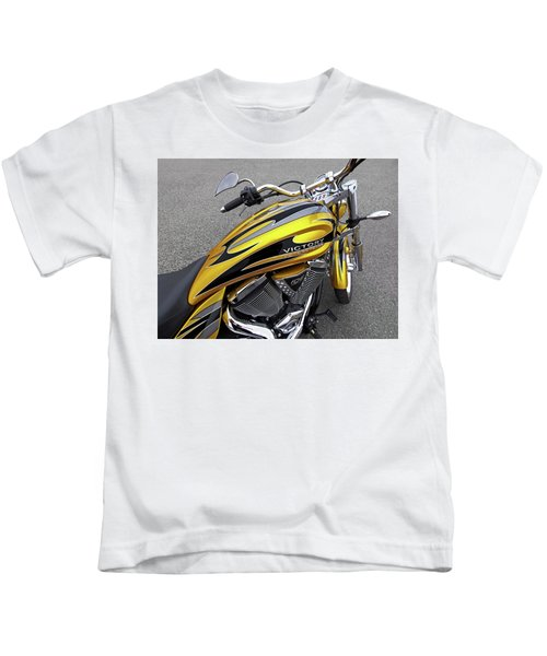 Victory Motorcycle 106 Gas Tank And V-twin Engine Kids T-Shirt