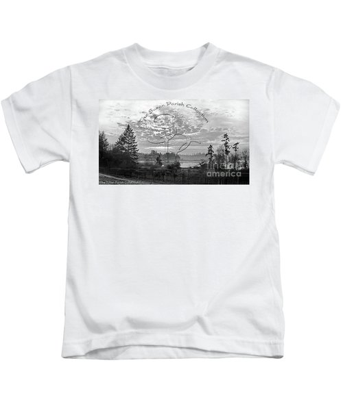 View Of Boston Harbor Kids T-Shirt