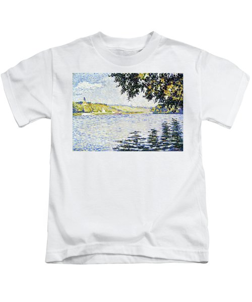 View Of The Seine At Herblay - Digital Remastered Edition Kids T-Shirt